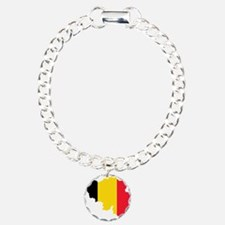 Belgium Flag and Map Bracelet