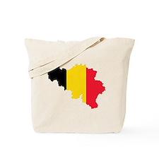 Belgium Flag and Map Tote Bag