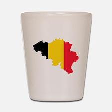 Belgium Flag and Map Shot Glass