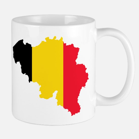 Belgium Flag and Map Mug
