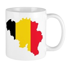 Belgium Flag and Map Mug