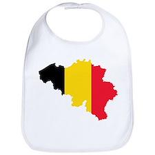 Belgium Flag and Map Bib
