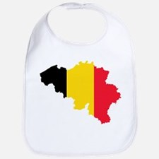 Belgium Flag and Map Bib