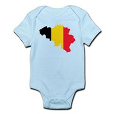 Belgium Flag and Map Infant Bodysuit