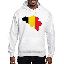 Belgium Flag and Map Hoodie