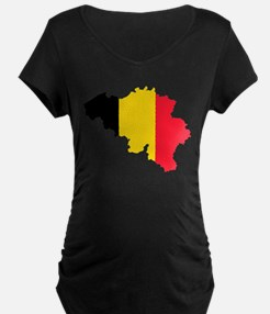 Belgium Flag and Map T-Shirt
