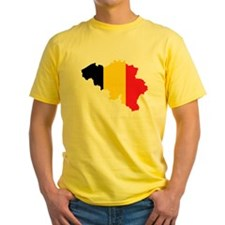 Belgium Flag and Map T