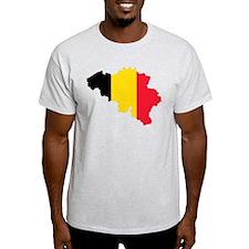 Belgium Flag and Map T-Shirt