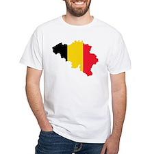 Belgium Flag and Map Shirt