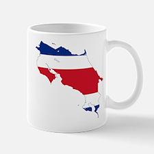 Costa Rica Flag and Map Mug