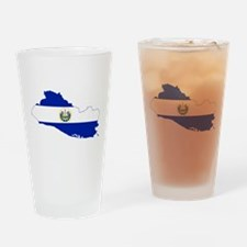 El Salvador Flag and Map Drinking Glass