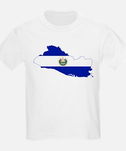 El Salvador Flag and Map T-Shirt