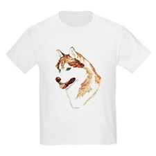 Siberian Husky Portrait Kids T-Shirt