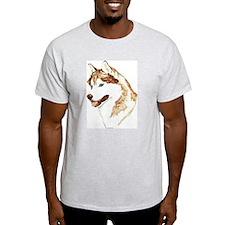 Siberian Husky Portrait Ash Grey T-Shirt