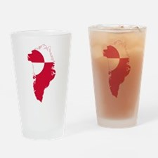 Greenland Flag and Map Drinking Glass