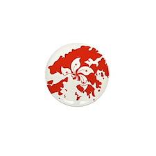 Hong Kong Flag and Map Mini Button