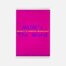 MUM's The Word Rectangle Magnet