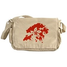 Hong Kong Flag and Map Messenger Bag