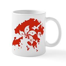 Hong Kong Flag and Map Mug