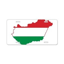 Hungary Flag and Map Aluminum License Plate