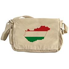 Hungary Flag and Map Messenger Bag