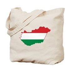 Hungary Flag and Map Tote Bag