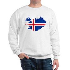 Iceland Flag and Map Sweatshirt