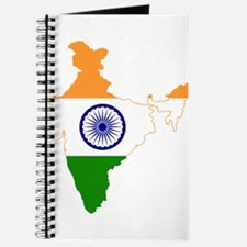 India Flag and Map Journal