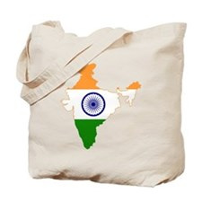 India Flag and Map Tote Bag