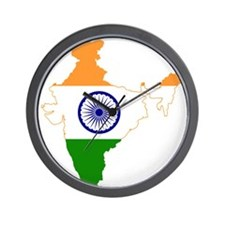 India Flag and Map Wall Clock