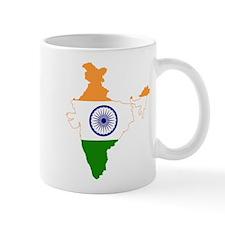 India Flag and Map Mug