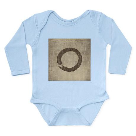 Vintage Enso Symbol Long Sleeve Infant Bodysuit