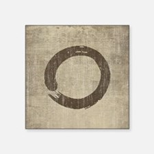 "Vintage Enso Symbol Square Sticker 3"" x 3"""