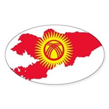 Kyrgyzstan Flag and Map Decal