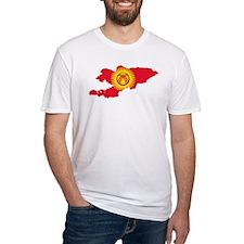 Kyrgyzstan Flag and Map Shirt
