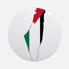 Palestine Flag and Map Ornament (Round)