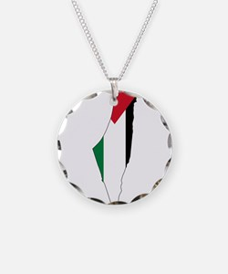 Palestine Flag and Map Necklace