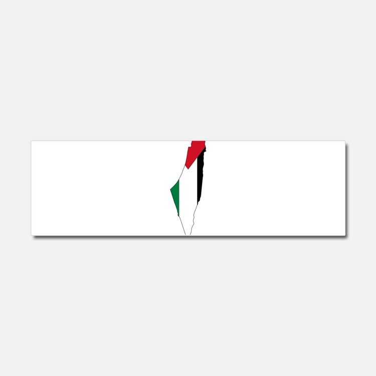 Palestine Flag and Map Car Magnet 10 x 3