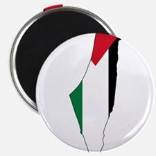 Palestine Flag and Map Magnet