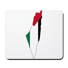Palestine Flag and Map Mousepad