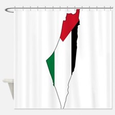 Palestine Flag and Map Shower Curtain