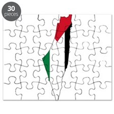 Palestine Flag and Map Puzzle