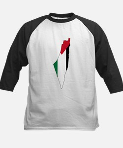 Palestine Flag and Map Tee