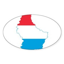 Luxembourg Flag and Map Decal