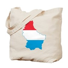 Luxembourg Flag and Map Tote Bag