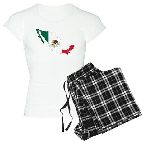 Mexico Flag and Map Women's Light Pajamas