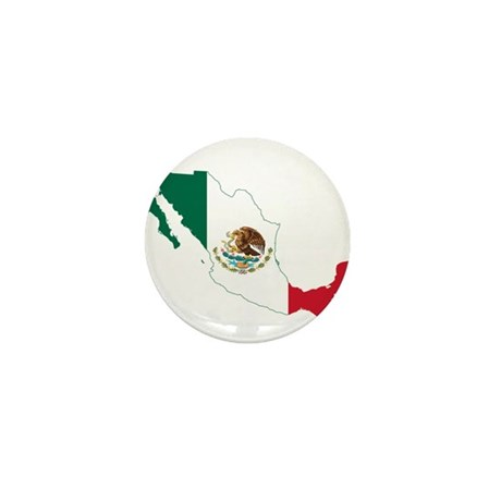 Mexico Flag and Map Mini Button (10 pack)