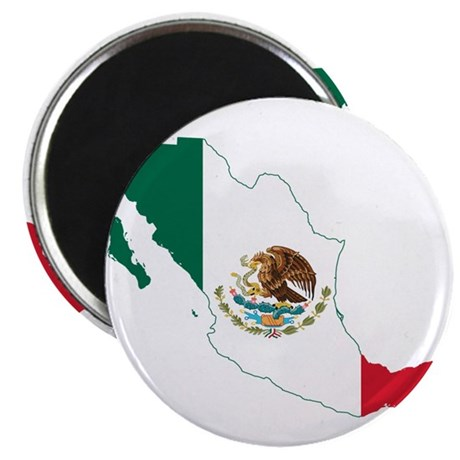 "Mexico Flag and Map 2.25"" Magnet (100 pack)"