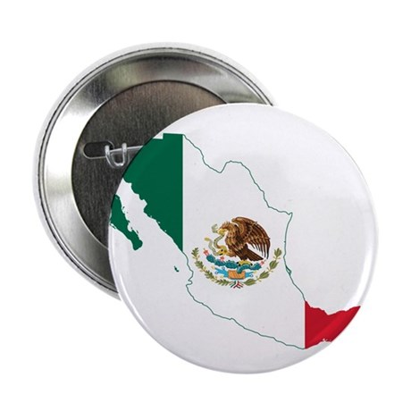 "Mexico Flag and Map 2.25"" Button"