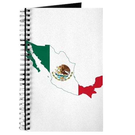 Mexico Flag and Map Journal